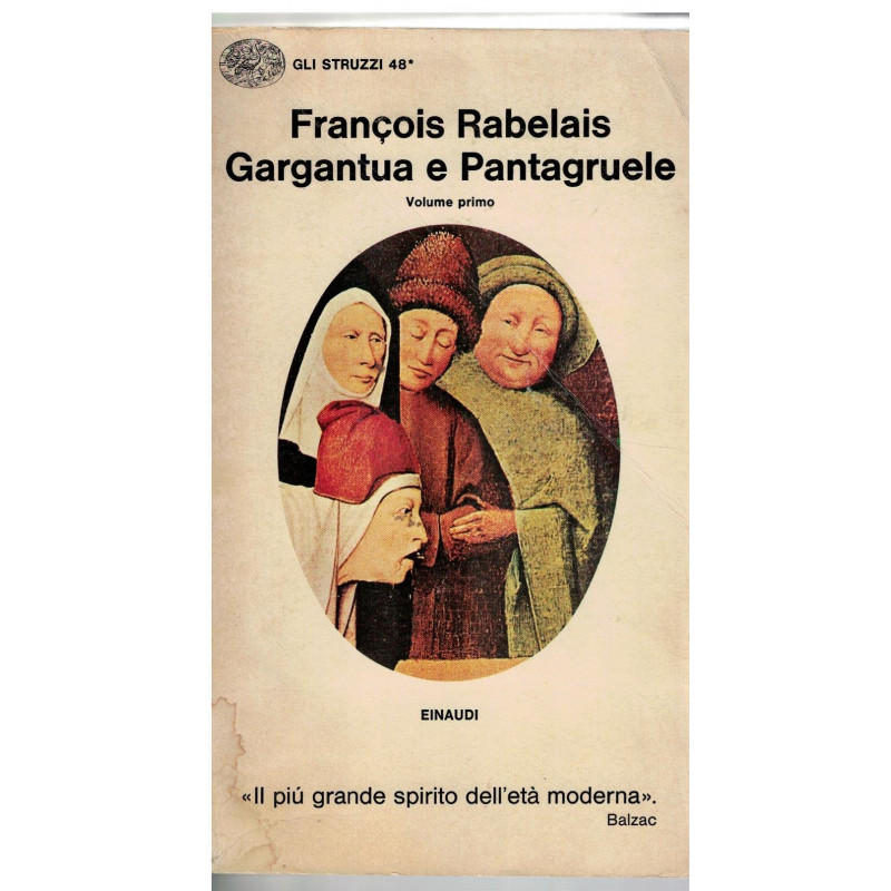 Gargantua e Pantagruele - volume primo [Library Binding] Francois Rabelais